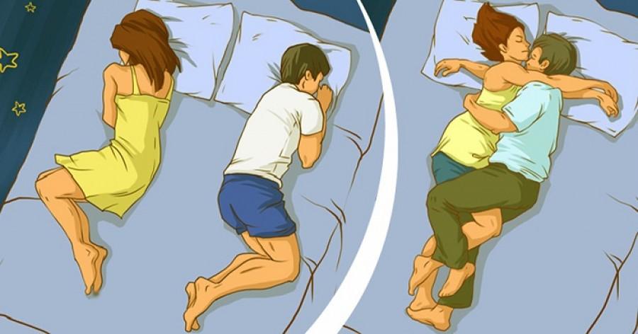 Az alvási pozíció mindent elárul  a párkapcsolatotokról