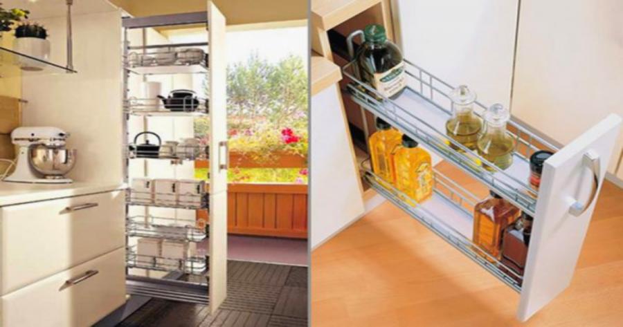 A kicsi konyha már nem gond!  Szokatlan ötletek, hogyan találhatsz mindennek helyet.