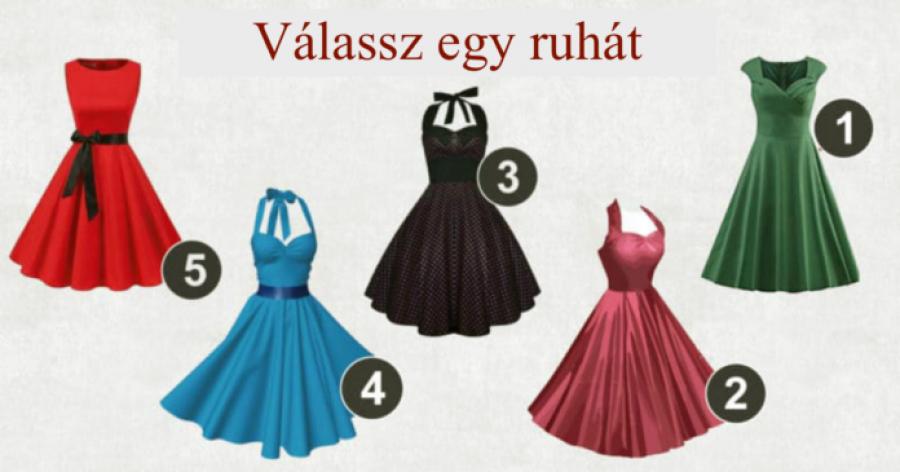 Válassz egy ruhát és megtudhatod, milyen nő is vagy!
