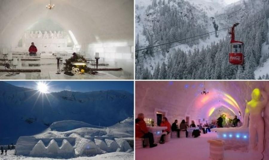 Minden évben felépítik a jégtemplomot és a jéghotelt a Fogarasi-havasokban