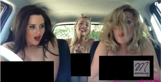 3 nő ül a kocsiban és táncolnak... amíg a rendőr le nem állítja őket