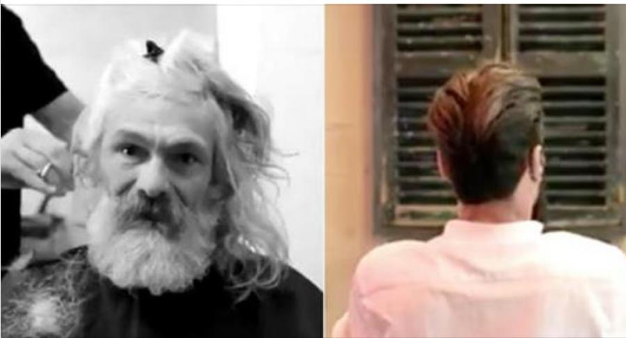 Elsírta magát az 55 éves hajléktalan férfi, amikor meglátta magát a tükörben