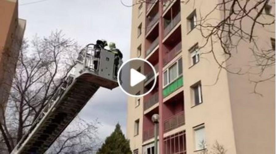 Kizárta a hetedik emeleti lakásból a nagyszülőjét egy 16 hónapos gyerek