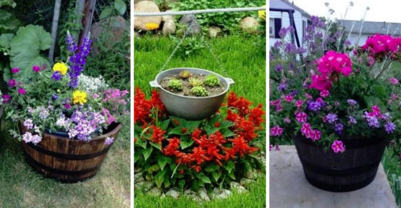 Van egy régi talicskád, hordód vagy bográcsod? Ki ne dobd, a kertben még felhasználhatod!
