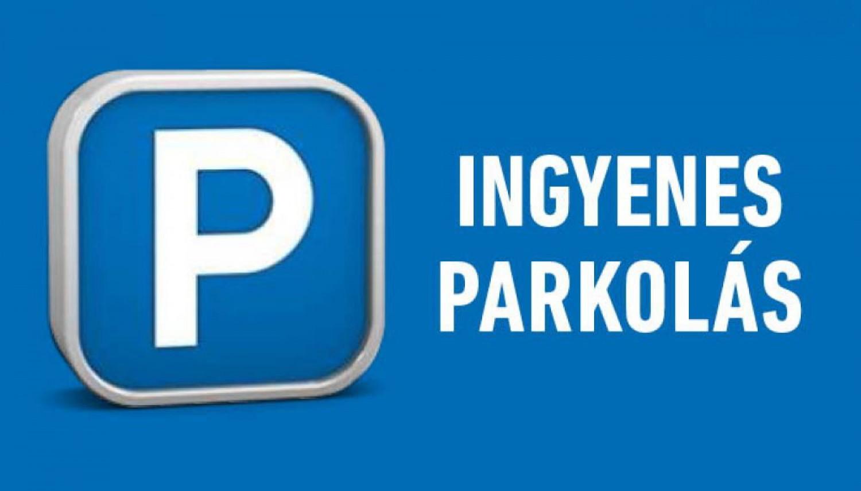 Ingyenes lesz hétfőtől a parkolás!