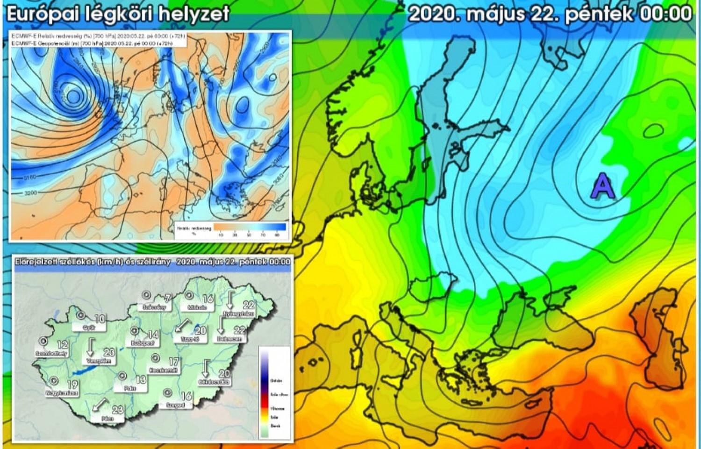 Sarkvidéki eredetű légtömeg közelít Magyarország felé - ekkor ér ide