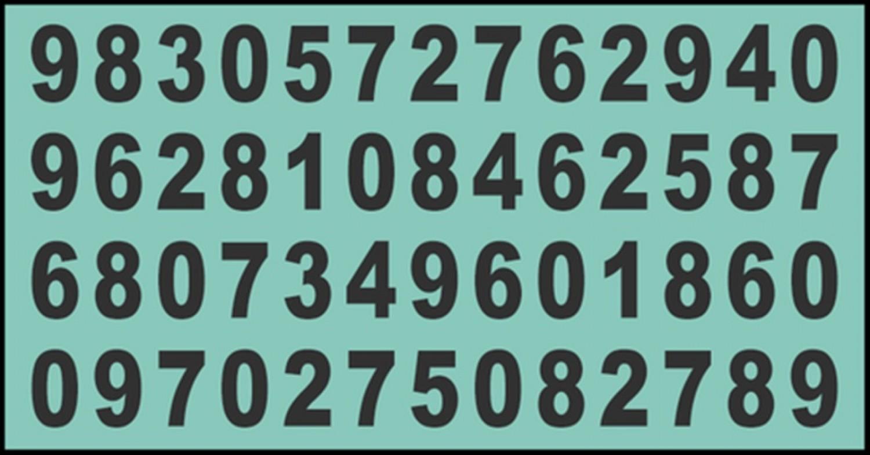 Csak a 110 és 125 közötti IQ-val rendelkezők találják meg a 868-as számot többször is a képen 10 másodperc alatt