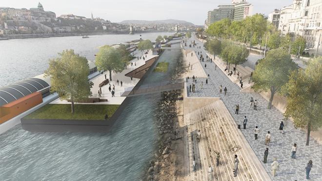 Hihetetlenül elegáns lesz az új Duna-part!