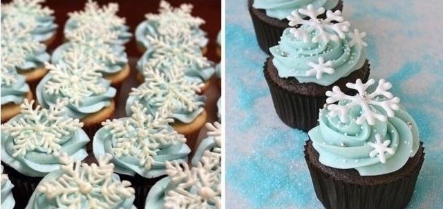 Készíts hópihe dekort a sütikre!
