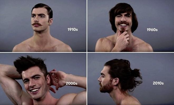 Így változott a férfiideál az elmúlt 100 éveben. NÉZD MEG 1 PERCBEN!