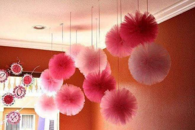 Csodaszép tüll-labdák - végtelenül egyszerűen elkészíthető!