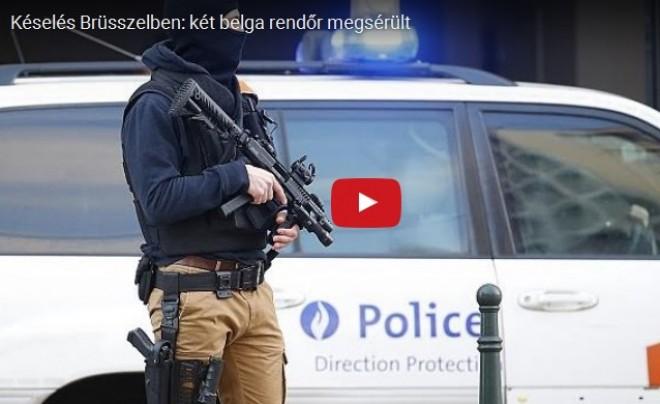 VIDEÓ - Terrortámadás lehetett a brüsszeli késelés!