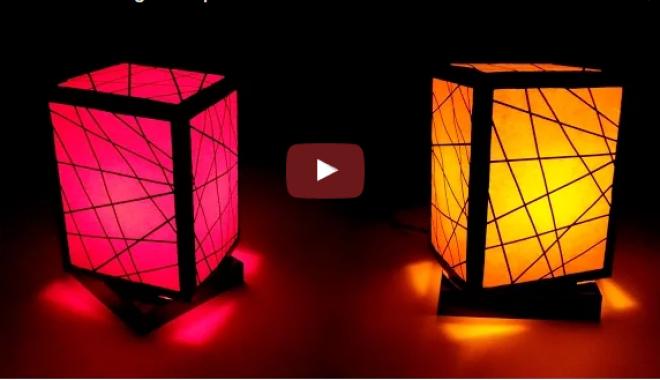Hoppá! Ez az éjjeli lámpa egy közönséges kartondobozból készült. CSINÁLD MAGAD!