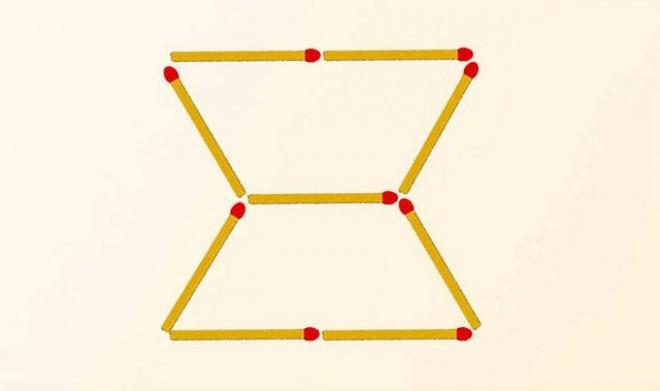 Mozdíts el 2 gyufát, hogy 3 háromszöget kapj! TESZTELD MAGAD!