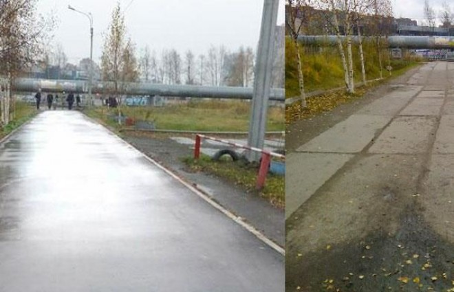 TALÁLÉKONY MEGOLDÁS! Photoshoppal újítottak fel egy járdát!