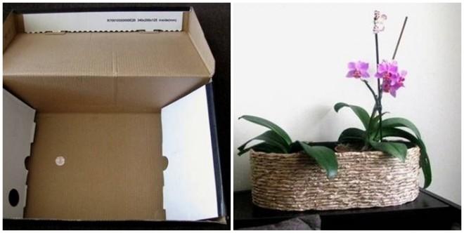 Hullámpapírból és csomagolópapírból csodás virágtartót készíthetsz!