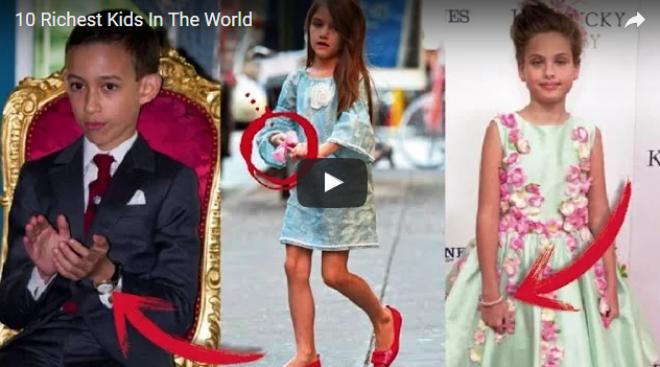 A világ 10 leggazdagabb gyereke