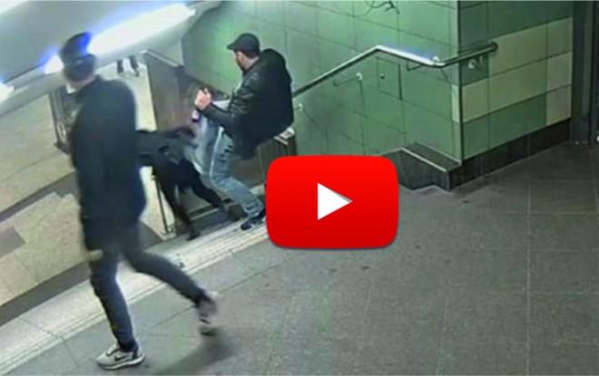 Azonosították a férfit, aki brutálisan lerúgott egy nőt a lépcsőről!