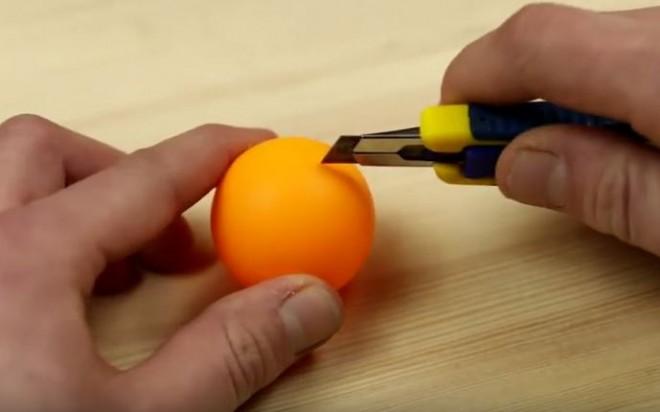 Nem fogod elhinni, mi készülhet egy közönséges pingponglabdából!