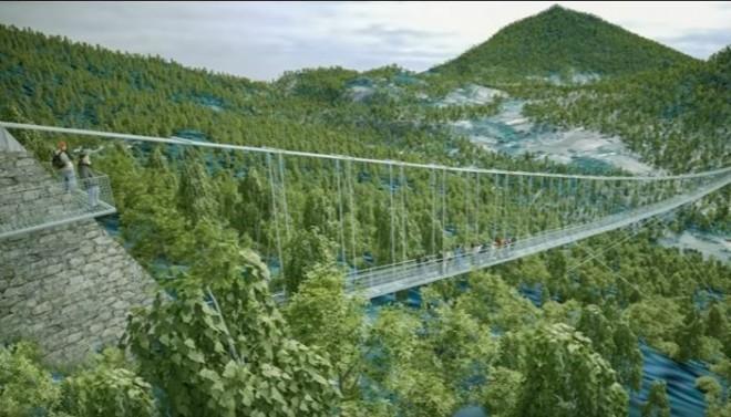 A világ leghosszabb üveghídja Magyarországon fog megépülni