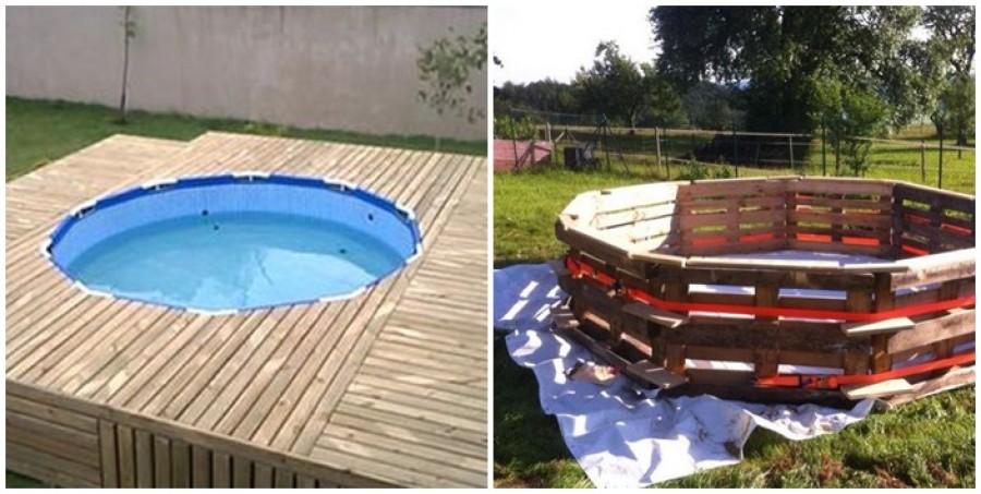 Egyszerűen készíthetsz raklapból saját kerti medencét
