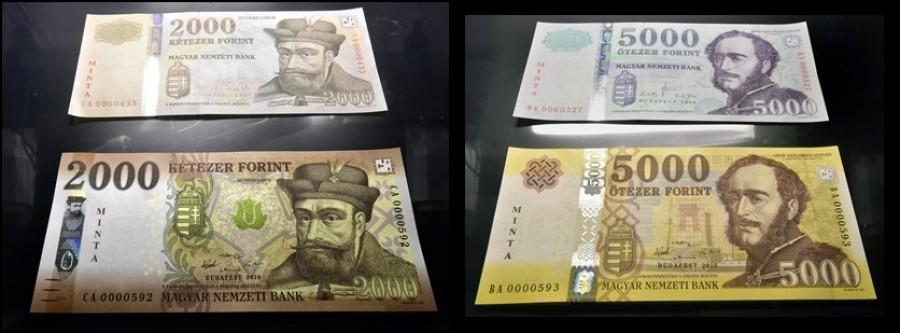 Nagy baj van az új  2000 és 5000 forintosokkal!