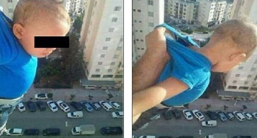 Nem fogod elhinni, miért lógatta ki gyermekét az apja a 15. emeletről!