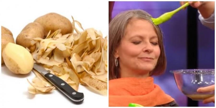 A krumpihéj főzete tökéletesen elfedi az ősz hajszálakat!