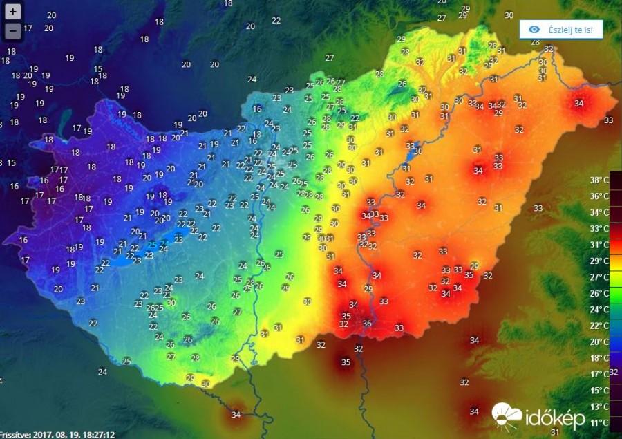 Hihetetlen: 20 fok különbség az ország két része között! Érkezik a vihar is!