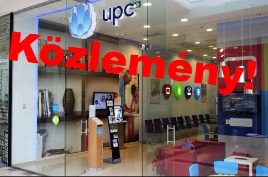 Figyelmeztetést adott ki a UPC - minden ügyfél érintett