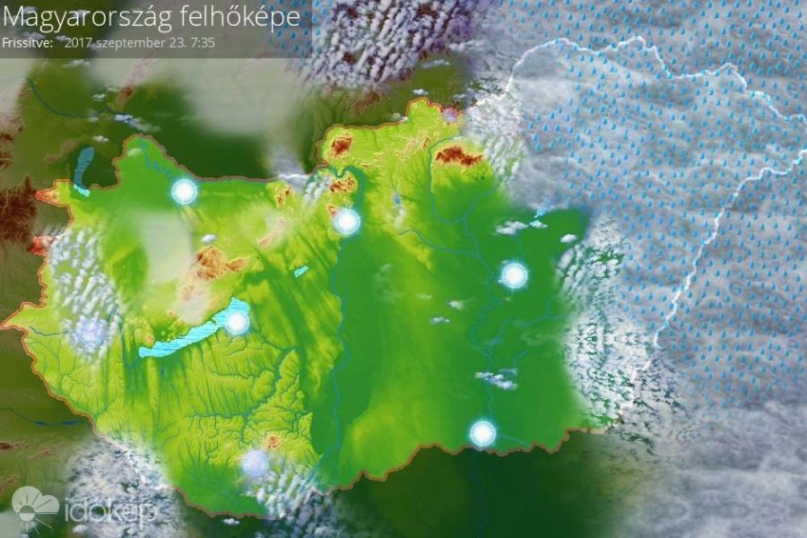 Szombaton reggel az ország keleti részén szakad az eső. Ez várható a későbbiekben.