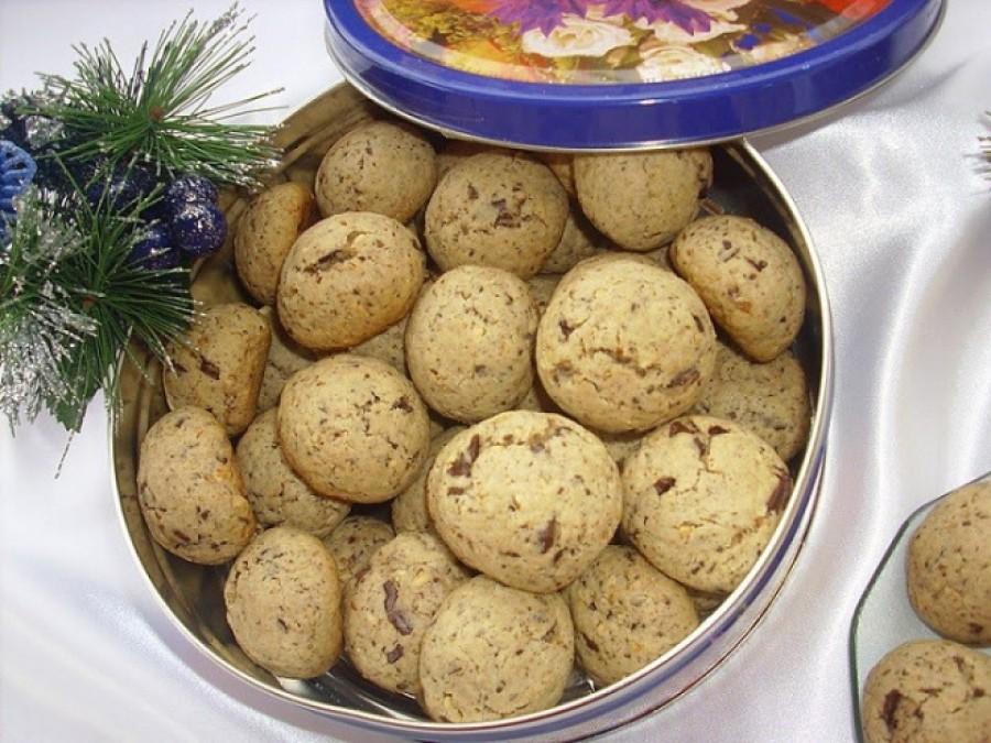 Csokis diós édes pogácsák