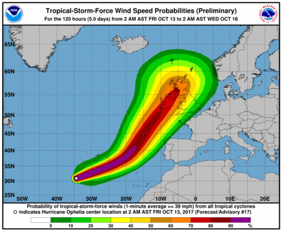 Hatalmas hurrikán tart Európa felé