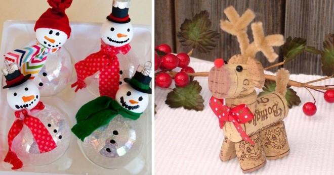 Top 40 házilag elkészíthető karácsonyi dísz