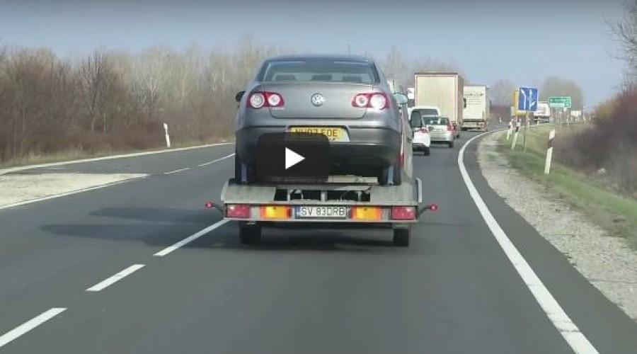 Ezt látni kell: a román sofőr mindenhol előz! (négyes főút, Abony elkerülő)