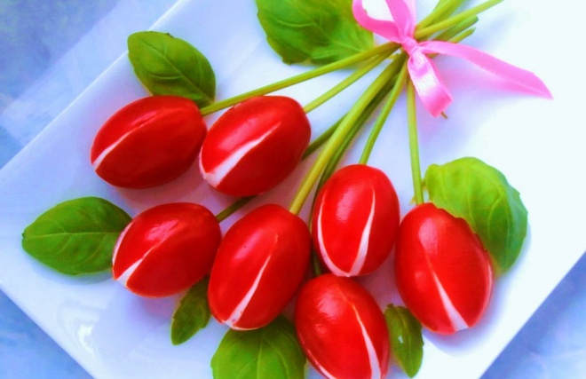 Ehető tulipáncsokor